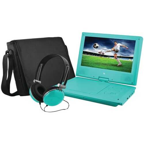 """Ematic EPD909TL 9"""" Portable DVD Player Bundles (Teal)"""