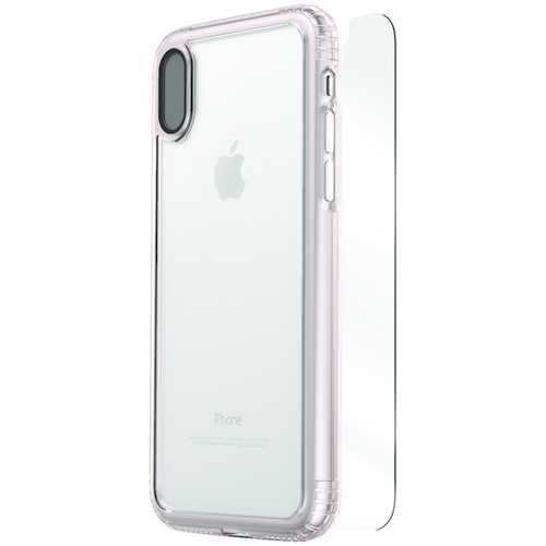 SaharaCase CL-A-IX-ROG/CL Clear Protective Kit for iPhone(R) X (Rose Gold Clear)