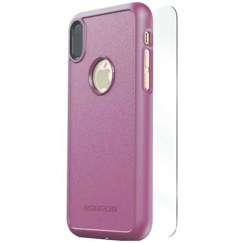 SaharaCase D-A-IX-PL dBulk Series Protective Kit for iPhone(R) X (Plum)