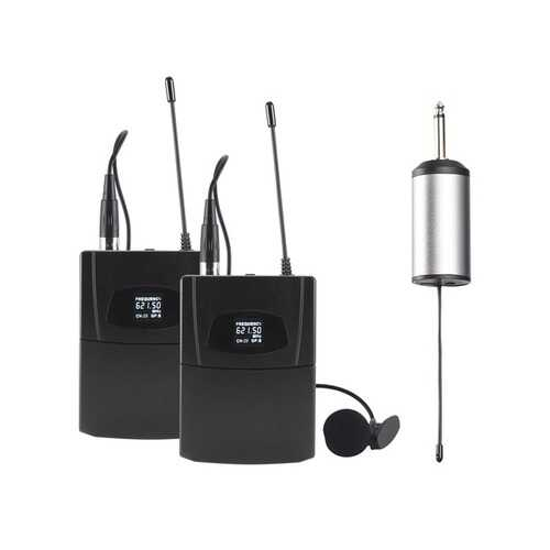 Blackmore Pro Audio BMP-16 Dual Portable Dynamic Lapel Wireless UHF Microphone System