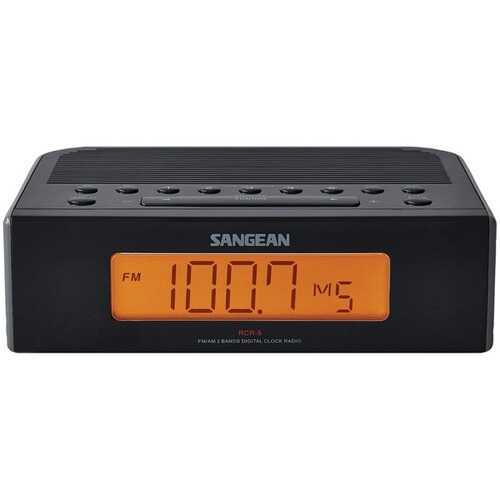 Sangean RCR-5BK AM/FM Digital Tuning Clock Radio