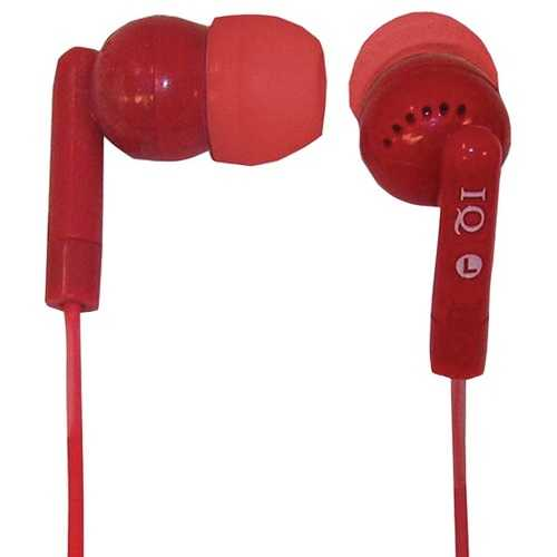 Supersonic IQ-106 RED Porockz Stereo Earphones (Red)