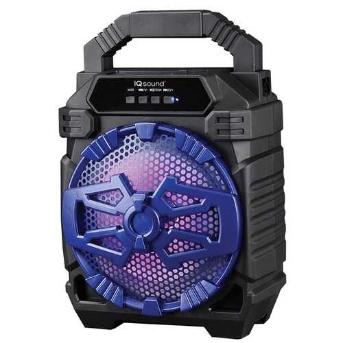 Supersonic IQ-1665BT- Blue 6.5-Inch Portable Bluetooth Speaker (Blue)