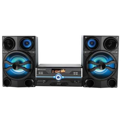 Supersonic IQ-9000BT Hi-Fi Multimedia Audio System with Bluetooth and Auxiliary/USB/Microphone Inputs