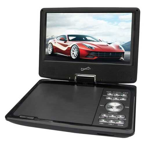 Supersonic SC-259 9-Inch DVD Player with TV Tuner
