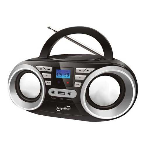 Supersonic SC-506-BLACK Portable Audio System (Black)