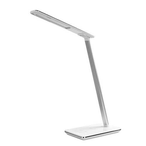 Supersonic SC-6040QI- White LED Desk Lamp with Qi Charger (White)