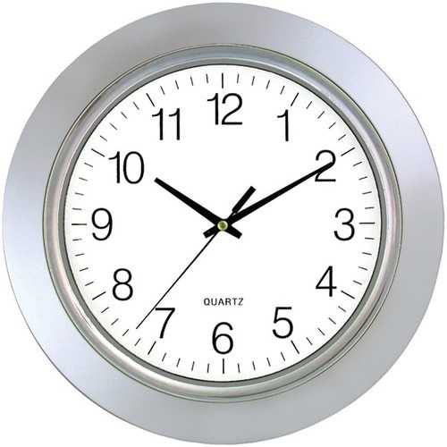"Timekeeper 6450 13"" Chrome Bezel Round Wall Clock"