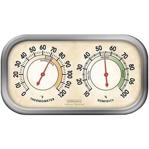 Springfield Precision 90113-1 Humidity Meter & Thermometer Combo