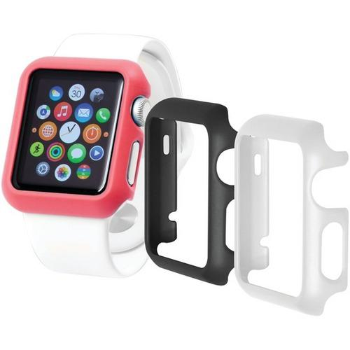Trident(TM) Case OD-APWG03-BWP00 Odyssey Guard Cases for Apple Watch(R), 3 pk (38mm, Black/White/Pink)