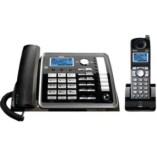 RCA 25255RE2 DECT 6.0 2-Line Corded/Cordless Expandable Phone with Caller ID & Answerer