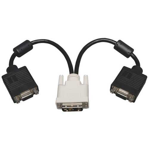 Tripp Lite(R) P120-001-2 DVI to VGA Splitter Adapter Cable, 1ft