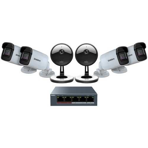 Uniden UC4402 1080p Indoor/Outdoor Security Cloud System with 5-Port PoE Switch (6 Cameras)