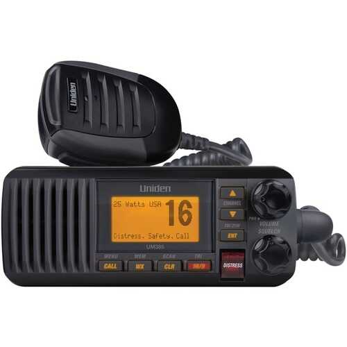Uniden UM435BK 25-Watt Full-Featured Fixed-Mount VHF Marine Radio (Black)