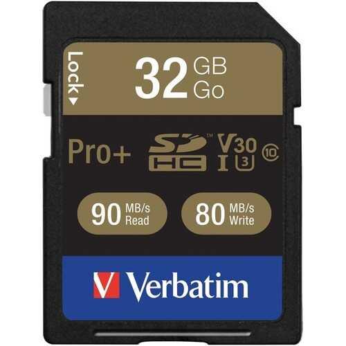Verbatim 49196 Class 10 32GB Pro Plus 600X SDHC Memory Card