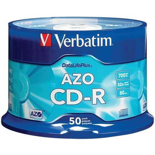 Verbatim 94523 700MB 80-Minute 52x DataLifePlus CD-Rs, Branded 50-ct Spindle