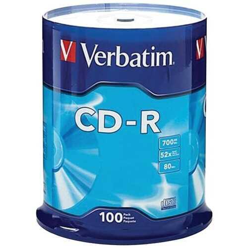 Verbatim 94554 700MB 80-Minute 52x CD-Rs (100-ct Spindle)