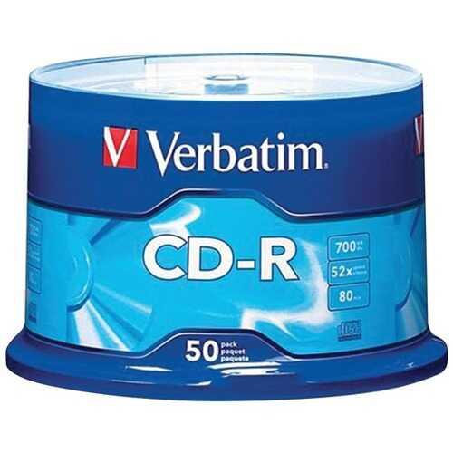 Verbatim 94691 700MB 80-Minute 52x CD-Rs (50-ct Spindle)