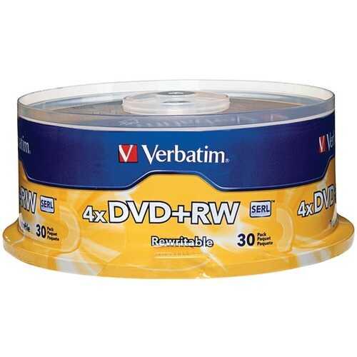Verbatim 94834 4X DVD+RWs, 30-Count Spindle