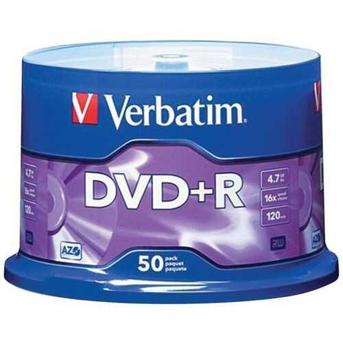 Verbatim 95037 4.7GB DVD+Rs (50-ct Spindle)