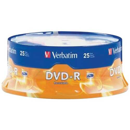 Verbatim 95058 4.7GB DVD-Rs (25-ct Spindle)