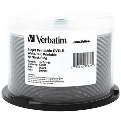 Verbatim 95079 4.7GB DataLifePlus DVD-Rs, 50-ct Spindle
