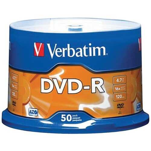 Verbatim 95101 4.7GB DVD-Rs (50-ct Spindle)