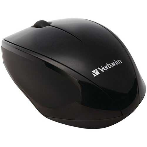 Verbatim 97992 Wireless Multi-Trac Blue LED Optical Mouse (Black)
