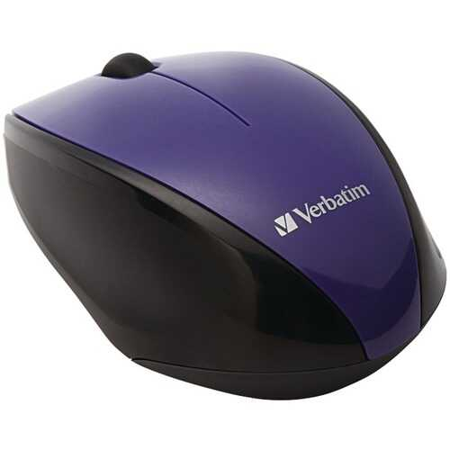 Verbatim 97994 Wireless Multi-Trac Blue LED Optical Mouse (Purple)