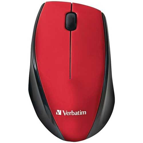 Verbatim 97995 Wireless Multi-Trac Blue LED Optical Mouse (Red)