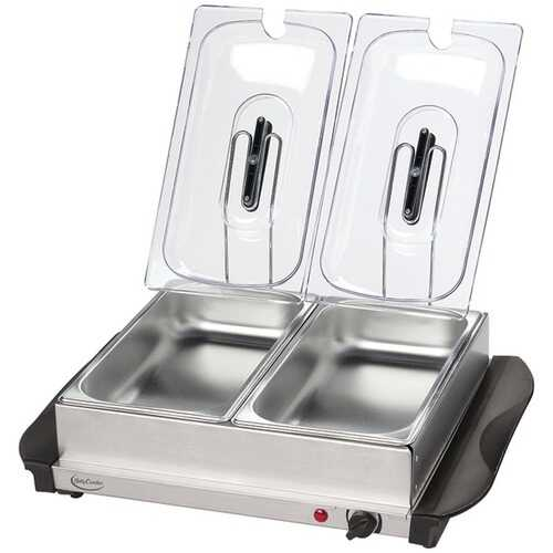 Betty Crocker(R) BC-2587CY Stainless Steel Buffet Server with Warming Tray