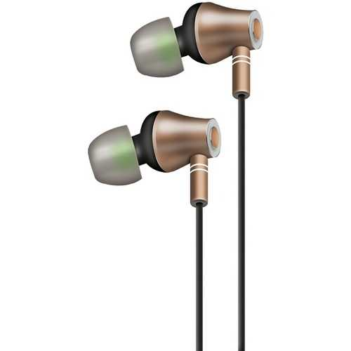 AT&T E10-GLD E10 Metallic In-Ear Stereo Earbuds with Microphone (Gold)