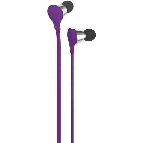 AT&T EBM01-Purple Jive Noise-Isolating Earbuds with Microphone (Purple)