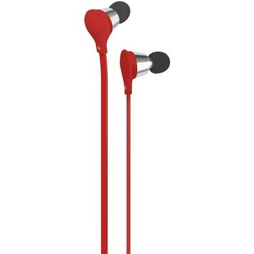 AT&T EBM01-Red Jive Noise-Isolating Earbuds with Microphone (Red)