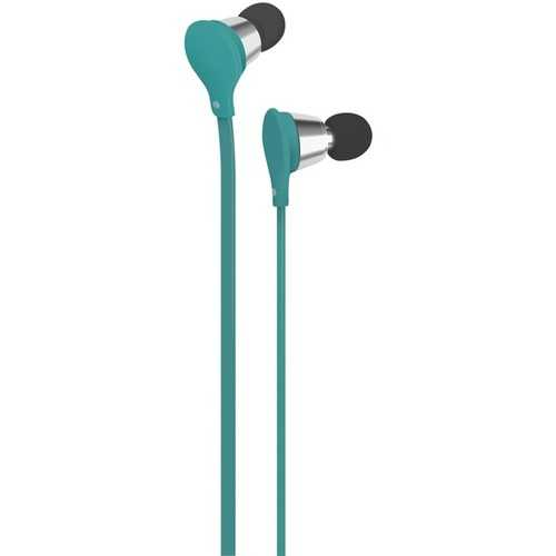 AT&T EBM01-Turquoise Jive Noise-Isolating Earbuds with Microphone (Turquoise)