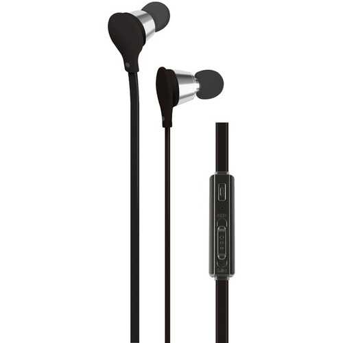 AT&T EBV01-BLK Jive Noise-Isolating Earbuds with Microphone & Volume Control (Black)