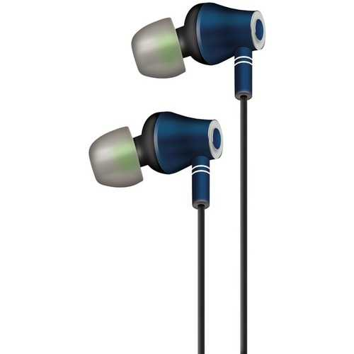AT&T E10-NVY E10 Metallic Stereo Earbuds with Microphone