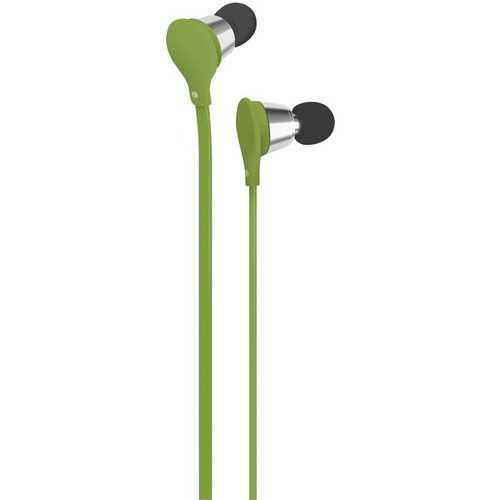 AT&T(R) EBM01-Green Jive Noise-Isolating Earbuds with Microphone (Green)