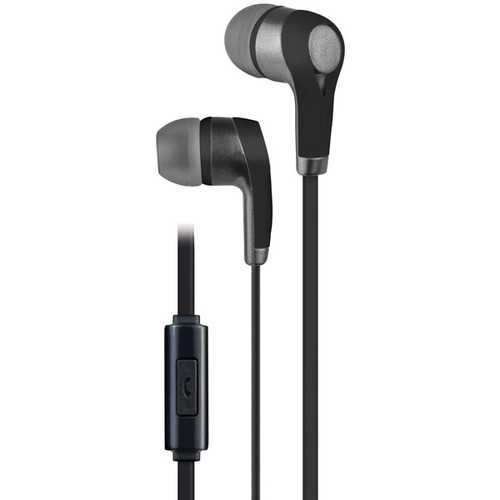 AT&T(R) PE10-BLK PE10 In-Ear Stereo Earbuds with Microphone (Black)