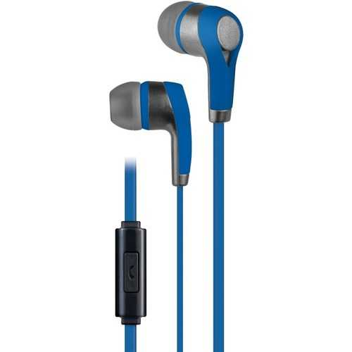 AT&T PE10-BLU PE10 In-Ear Stereo Earbuds with Microphone (Blue)
