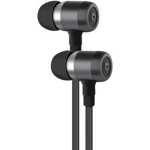 AT&T(R) PE50-GRY PE50 In-Ear Stereo Earbuds with Microphone (Gray)