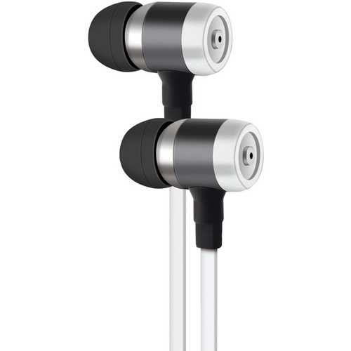 AT&T PE50-WHT PE50 In-Ear Stereo Earbuds with Microphone (White)