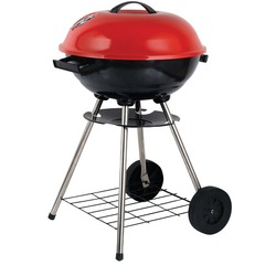 """Brentwood Appliances BB-1701 17"""" Portable Charcoal BBQ Grill with Wheels"""
