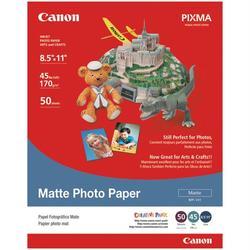 """Canon 7981A004AB Matte Photo Paper (8.5""""L x 11""""W; 50 pk)"""