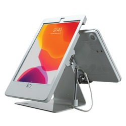 Category: Dropship Accessories, SKU #CTAPADDSTW10, Title: CTA Digital PAD-DSTW10 Security Dual-Tablet Kiosk Stand for iPad Air 3, iPad Pro 10.5, and iPad Gen 7 (White)