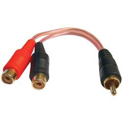 DB Link XLY2FZ X-Series RCA Y-Adapter (1 Male-2 Females)