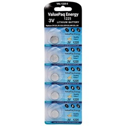 Dantona VAL-1225-5 ValuePaq Energy 1225 Lithium Coin Cell Batteries, 5 pk