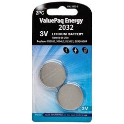 Dantona VAL-2032-2 ValuePaq Energy 2032 Lithium Coin Cell Batteries, 2 pk