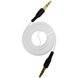 iEssentials IE-AUX-WT 3.5mm Flat Auxiliary Cable, 3.3ft (White)