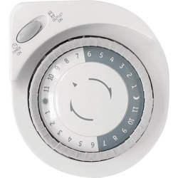 GE 15076 Indoor Plug-In 24-Hour Big-Button Mechanical Timer